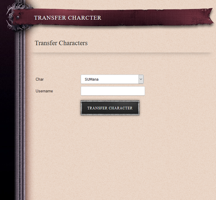 Transfer Character