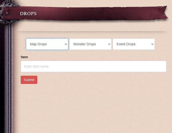 Drop List
